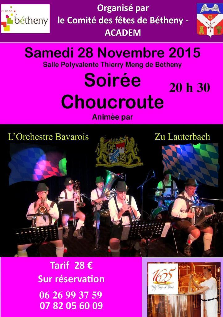 soirée choucroute 28 nov 2015.-20h30